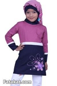 أطقم خروج للمحبات الصغيرات 2014، أزياء للمحجبات الصغار2014 110712.png